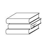 Silhouette set stack school books icon Stock Photo