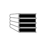Silhouette set stack school books icon Stock Photography