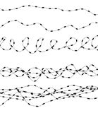 Silhouette of severe obstacle. Barbed wire fencing. Vector Illustration. EPS10 Royalty Free Stock Photo