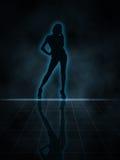 Silhouette sexy Images libres de droits