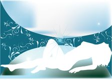 Silhouette of woman vector illustration