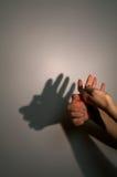 Silhouette shadow of aborigen Stock Image