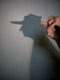 Silhouette shadow of man Stock Photo