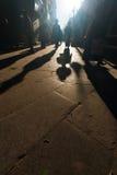 Silhouette Shadows Tibetan People Barkhor Lhasa Royalty Free Stock Image