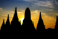 Silhouette sharp pagoda Stock Image
