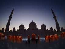 Silhouette Sheikh Zayed Mosque Stock Image