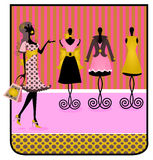 Silhouette shopping Tag. Illustration of a silhouette shopper shaped as a tag royalty free illustration