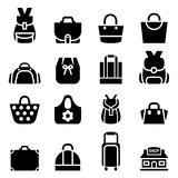Silhouette Shopping bag icon Royalty Free Stock Images