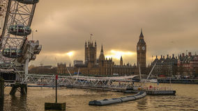 Silhouette shot of London skyline Royalty Free Stock Photography