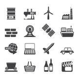 Silhouette Simple Business and industry icons Stock Photo