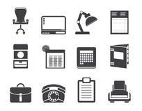 Silhouette Simple Business, office and firm icons Royalty Free Stock Photos