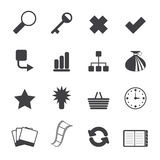 Silhouette Simple Internet and Web Site Icons Royalty Free Stock Photo