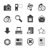 Silhouette Simple Internet and Website Icons Royalty Free Stock Images