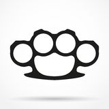 Silhouette simple symbol of Brassknuckles vector Royalty Free Stock Images
