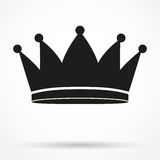 Silhouette simple symbol of classic royal king Royalty Free Stock Photo