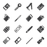 Silhouette Simple Vector Object Icons. Vector Icon Set royalty free illustration