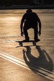 Silhouette skateboard Stock Photography