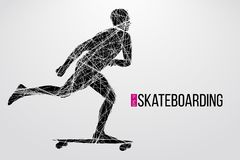 Silhouette of a skateboarder. Vector illustration Royalty Free Stock Photo
