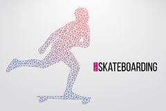 Silhouette of a skateboarder. Vector illustration Stock Image