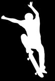Silhouette Skater Royalty Free Stock Image