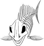 Silhouette skeleton fish Royalty Free Stock Photography