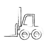 Silhouette sketch blurred forklift truck with boxes Stock Photo