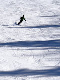 Silhouette of skier Stock Photography