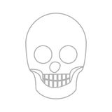 Silhouette skull bones with teeths Stock Photography