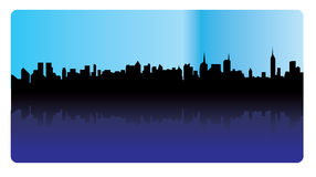 Silhouette of a skyline - vector Royalty Free Stock Photography