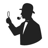 Silhouette sleuth Royalty Free Stock Photo