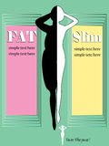 Silhouette slim woman infographic black and white Royalty Free Stock Photo