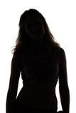 Silhouette of slim woman Royalty Free Stock Photos