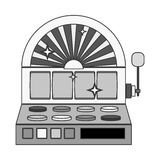 Silhouette slot machine with button panel Royalty Free Stock Images