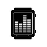Silhouette smart watch music frecuency Stock Photos