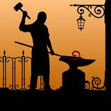 Silhouette of the smith. vector illustration