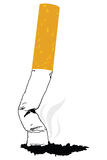 A silhouette of a smoking cigarette royalty free illustration