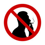 Silhouette of a smoking man Royalty Free Stock Image