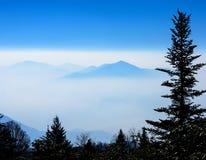 Silhouette of the Smoky Mountains Royalty Free Stock Photos