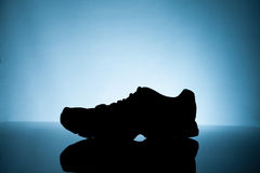 Silhouette of Sneakers Royalty Free Stock Images