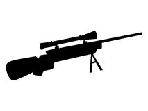 Silhouette of sniper rifle. Military series Stock Image