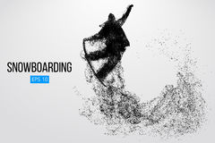 Silhouette of a snowboarder jumping isolated. Vector illustration Royalty Free Stock Photography