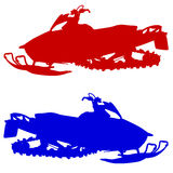 Silhouette snowmobile  on white background. Vector Royalty Free Stock Photography