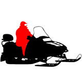 Silhouette snowmobile  on white background. Vector illustration Royalty Free Stock Photography