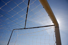 Silhouette of soccer Stock Image