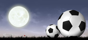 Silhouette soccer background. Soccer and football sport background Stock Images