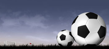 Silhouette soccer background. Soccer and football sport background Stock Photography