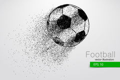Silhouette of a soccer ball from particles Royalty Free Stock Photos