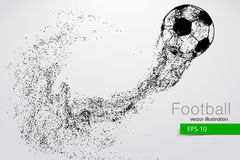 Silhouette of a soccer ball from particles Stock Photo