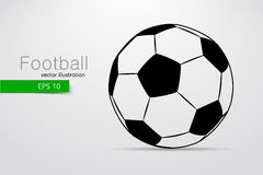 Silhouette of a soccer ball. Royalty Free Stock Image