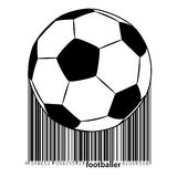 Silhouette of a soccer ball. Stock Photos